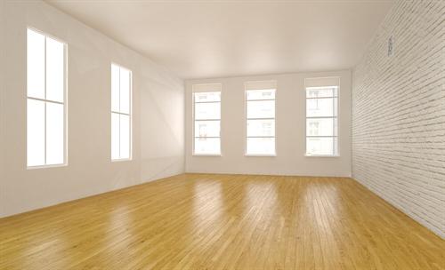 Zimmer ohne Einrichtung